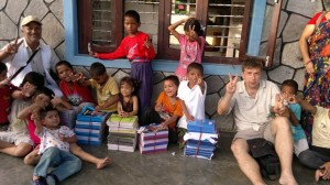 Volunteer Alexander Gomm with the children at The Love Company Orphanage!!!